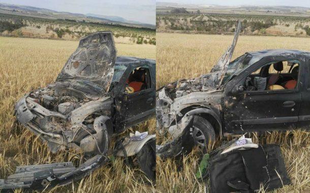 حادث مرور فضيع يؤدي بحياة زوجة ملازم بالادارة الجهوية للحماية المدنية بسليانة وإحالته على الإنعاش
