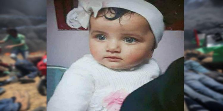 وفاة الرضيعة الفلسطينية ليلى أنور الغندور البالغة من العمر ثمانية أشهر
