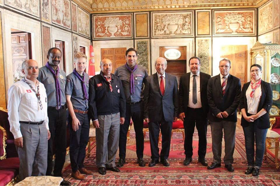 القائد أحمد الهنداوي الأمين العام للمنظمة الكشفية العالمية في زيارة رسمية لتونس