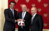 بوتين يسلم راية آستضافة كأس العالم لكرة القدم إلى أمير قطر