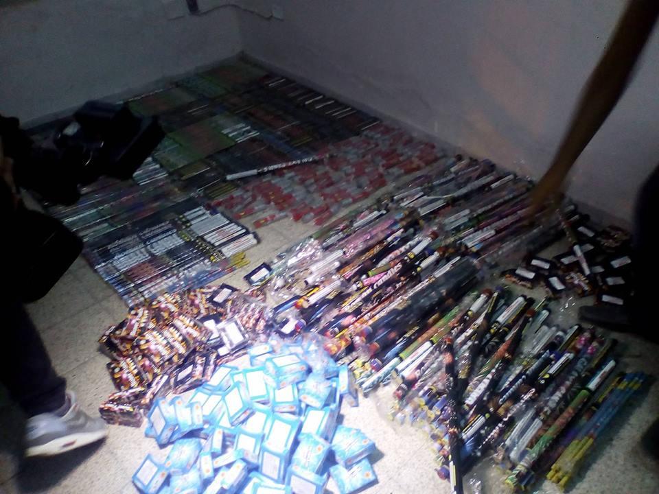 عاجل/وحدات الشرطة العدلية تونس المدينة تحجز كميات ضخمة من السلع المهربة