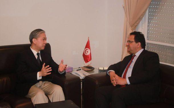 وزير التنمية يلتقي سفير الصين بتونس وفرص كبرى للإستثمار وبعث المشاريع