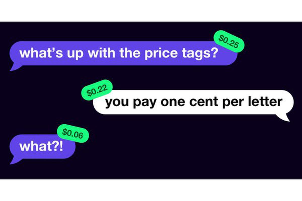 تطبيق جديد يلقى رواج كبير (Expensive Chat) مبلغ 1 سنت مقابل كل حرف يكتب