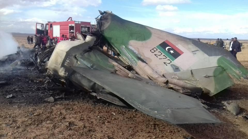 إسقاط طائرة حربية تابعة لحفتر شرقي العاصمة طرابلس