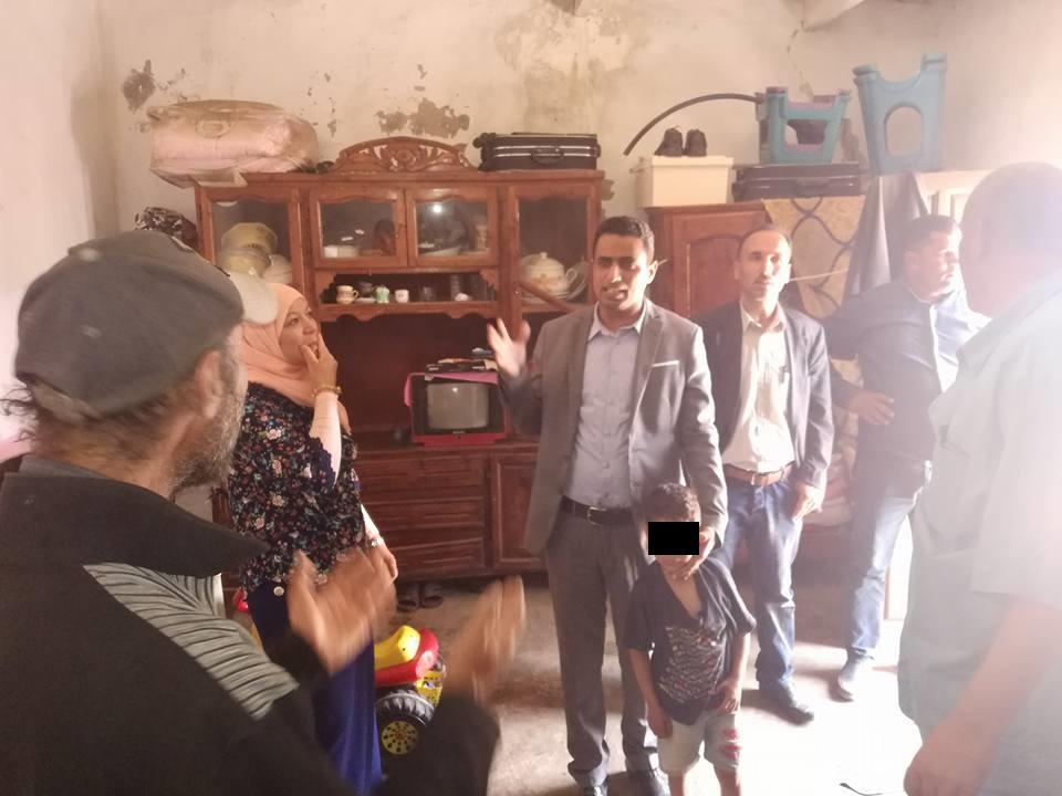 معتمد سجنان علي الحمدوني في زيارة ميدانية إلى منطقة الحرايزية