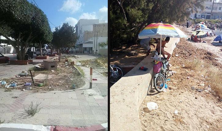 المهدية: أهالي رجيش ينددون بالتلوث البحري بسبب مياه الصرف الصحي