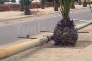 المروج 2 سقوط عمود تابع لإتصالات تونس يؤدي إلى إنقطاع الأنترنات على حي بأكمله