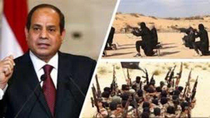 السيسي يؤكد دعمه للجيش الوطني الليبي في حملته للقضاء على العناصر والتنظيمات الإرهابية