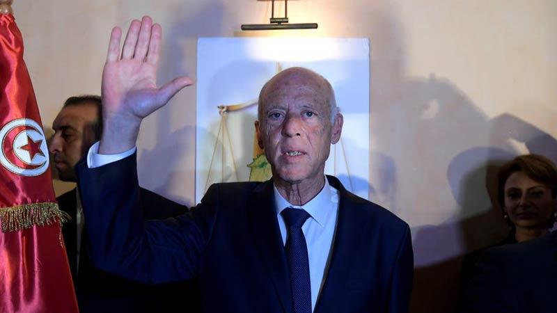 وصول قيس سعيد إلى مجلس نواب الشعب لآداء اليمين الدستورية