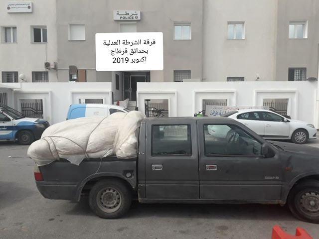 ضبط شاحنة خفيفة بصدد نقل مادة السداري المدعمة بدون رخصة في جهة قرطاج