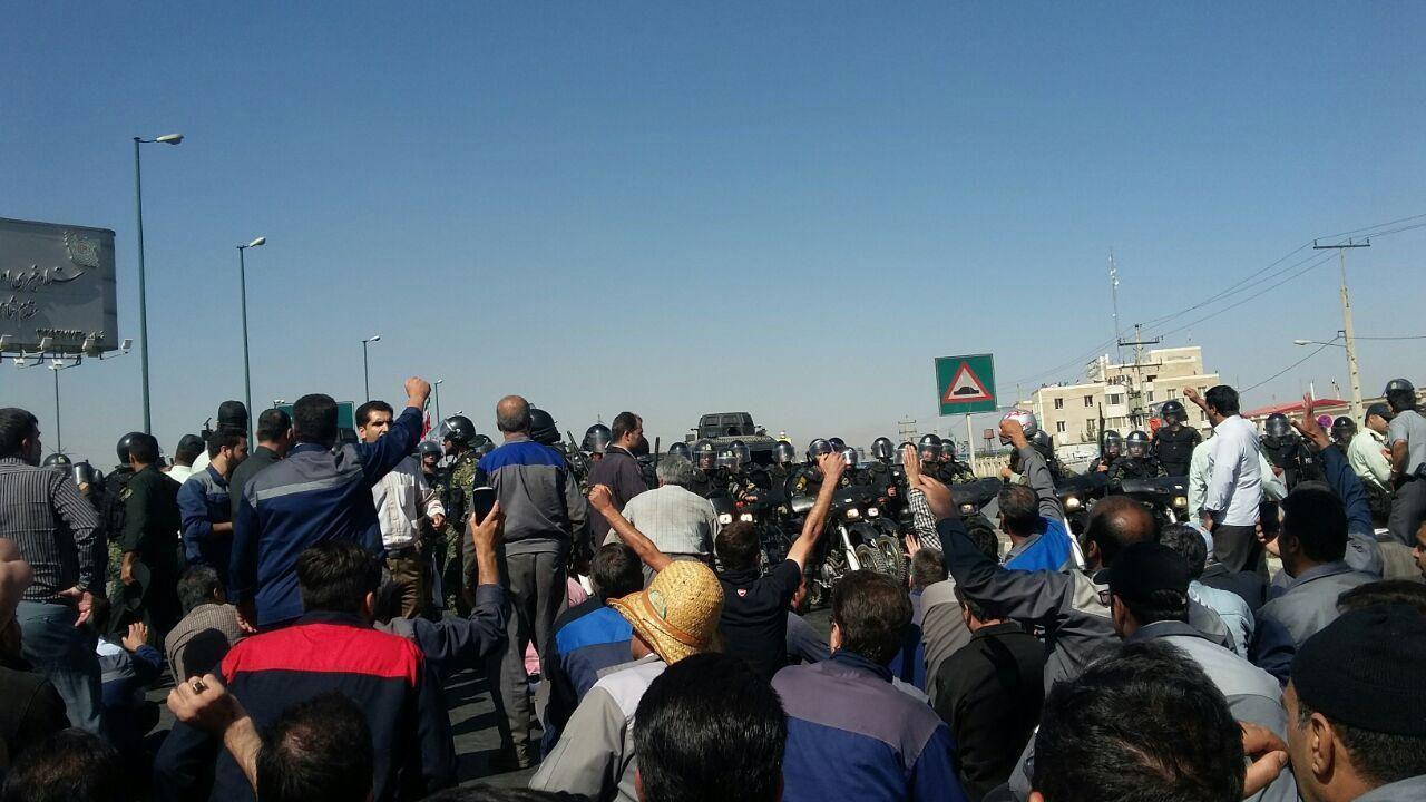 صورة النظام الإيراني يقمع احتجاجات عمالية