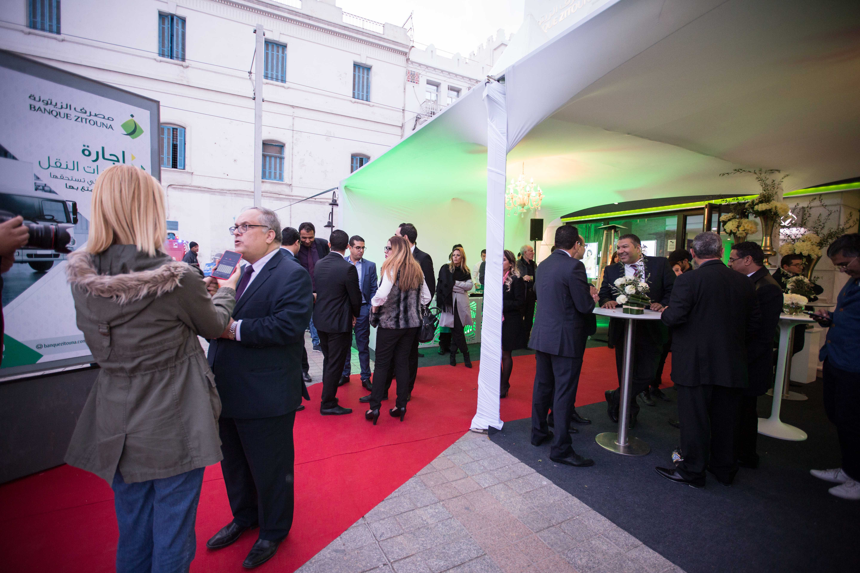 صورة إفتتاح الفرع النموذجي لمصرف الزيتونة في شارع الحبيب بورقيبة بالعاصمة
