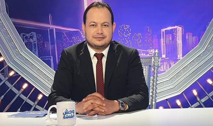 """صورة الإعلامي سمير الوافي: """"'الغنوشي ''مات'' حتى داخل حركة النهضة وانتهى عصره ومن المفروض أن يختفي"""""""