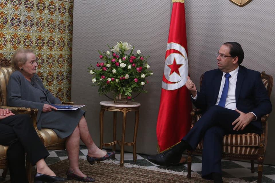 Photo of أولبرايت: اللقاء مع رئيس الحكومة التونسية كان مثمرا