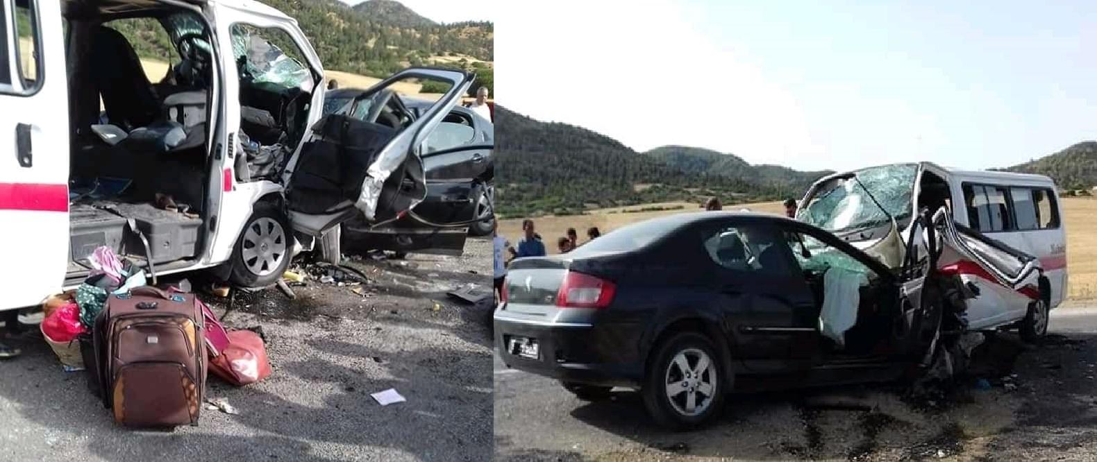 حادث مرور مروع يؤدي لوفاة شخصين وإصابة 8أخرين