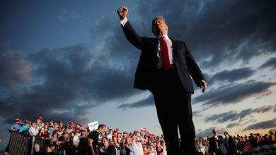 صورة ترامب: قد آضطر لمغادر أمريكا إذا فاز أسوأ مرشح في التاريخ السياسي
