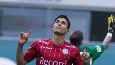 صورة حمدي الحرباوي يسجل هدفه الثاني في البطولة البلجيكية