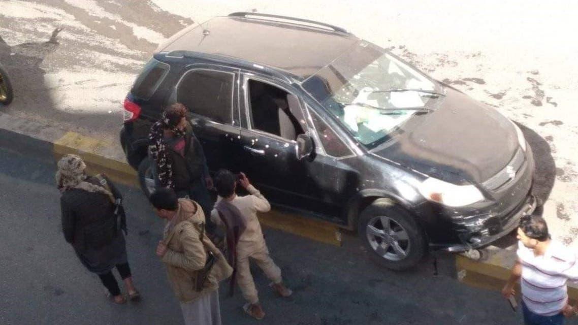 صورة إغتيال وزير الشباب والرياضة في حكومة الحوثي