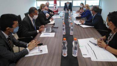 صورة لقاء يجمع وزير الاقتصاد والمالية ودعم الاستثمار بممثلي عدد من المؤسسات المالية المانحة بتونس