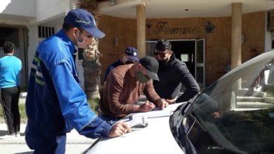 صورة بنزرت/الروابي: خلال حملة رقابية مشتركة…30 مخالفة من أجل عدم إرتداء الكمامة