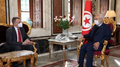 صورة رئيس مجلس نواب الشعب يستقبل سفير جمهورية ألمانيا الاتحادية بتونس