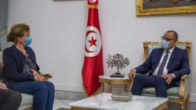 صورة لقاء يجمع رئيس الحكومة برئيسة اتحاد قضاة محكمة المحاسبات