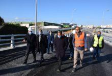 صورة تحويل جزئي لحركة المرور بالنفق المتواجد على مستوى شارع ياسر عرفات (أمام مطار تونس قرطاج) بولاية تونس اليوم الجمعة 26فيفري 2021