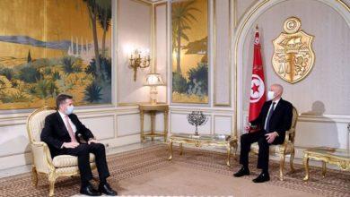 صورة لقاء يجمع رئيس الجمهورية بالسفير التركي بتونس