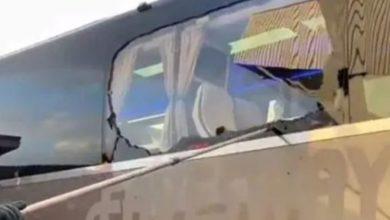 صورة مشجعو ليفربول يرشقون حافلة ريال مدريد بالحجارة