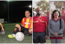 صورة بعد مسلسل الصراعات السياسية دربي نار في كرة القدم بين عبير موسي وسيف الدين مخلوف (صور)