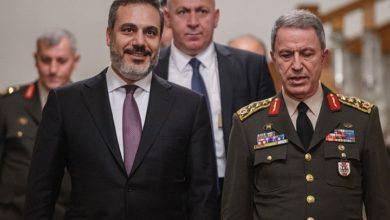 صورة وزير الدفاع والخارجية ورئيس الإستخبارات التركي في زيارة غير معلنة إلى ليبيا