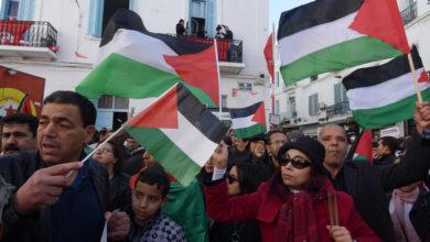 صورة وقفة مساندة لإنتفاضة الشعب الفلسطيني ومقاومته للعدوان الصهيوني
