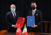 صورة توقيع مذكرة تفاهم حول التعاون التونسي الإيطالي من أجل التنمية للفترة 2021-2023