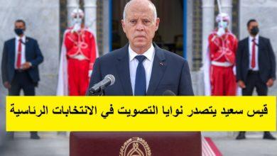 صورة قيس سعيد يتصدر نوايا التصويت في الانتخابات الرئاسية